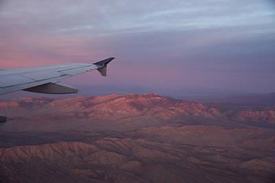 Flying Over The Mojave Desert At Sunrise Art Print