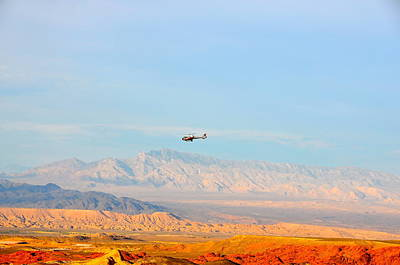 Photograph - Flying Over Valley Of Fire by Amanda Miles