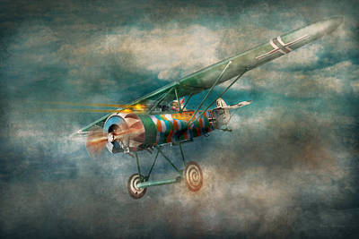 1918 Digital Art - Flying Pig - Acts Of A Pig by Mike Savad