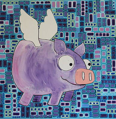 Flying Pig Art Print