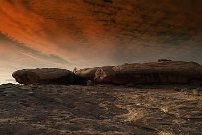 Flying Saucer Rock Art Print by Jeff Swan