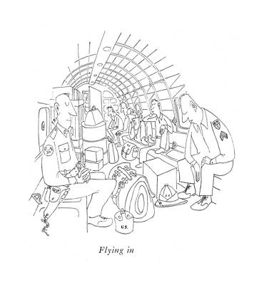 Flying Art Print by Saul Steinberg