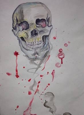 Painting - Flying Skull by Erik Franco