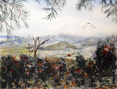 Flying South For The Winter Art Print by Vicki  Housel