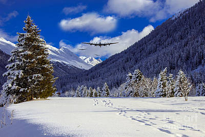 Snowy Digital Art - Flying The Fjords  by J Biggadike