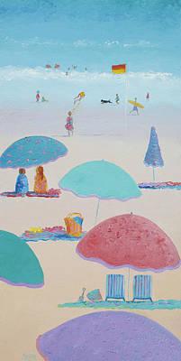 Flying The Kite 2 Art Print