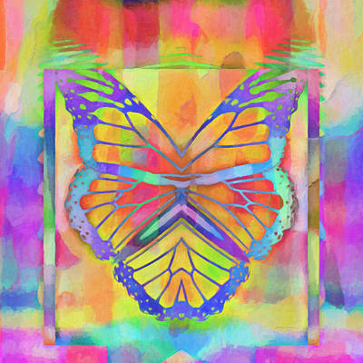 Digital Art - Flying The Rainbow by Kenny Francis