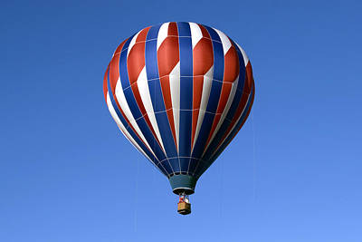 Photograph - Flying The Red White And Blue by Gene Walls