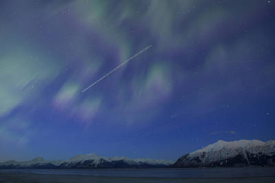 Jet Star Photograph - Flying Through The Northern Lights by Tim Grams