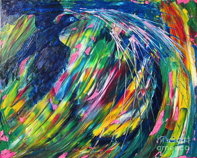 Painting - Flying Through Turbulence by Denise Hoag