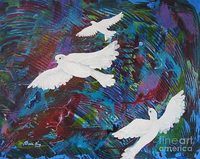 Painting - Flying Through Turbulence Too by Denise Hoag