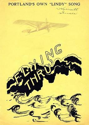 Flying Thru Print by Mel Thompson