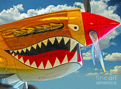 Flying Tiger Art Print by Gregory Dyer