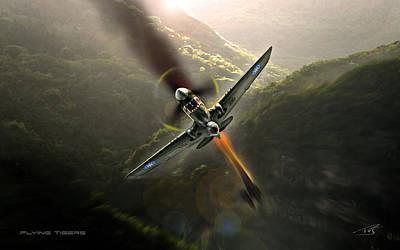 Flying Tigers Art Print by Peter Van Stigt