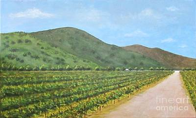 Painting - Flying To The Winery by Jeanie Watson