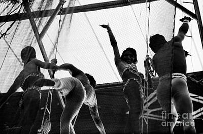 Photograph - Flying Trapeze Artists by Tom Brickhouse