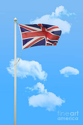Fluttering Photograph - Flying Union Jack by Amanda Elwell