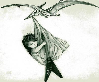 Flying V Art Print by Diana Lehr