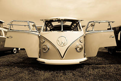 Photograph - Flying Vw Bus by Athena Mckinzie