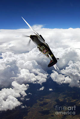 Flying With A Legend  Art Print by J Biggadike