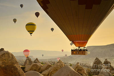 Flying With The Fairies 2 - Cappadocia Turkey Art Print by OUAP Photography