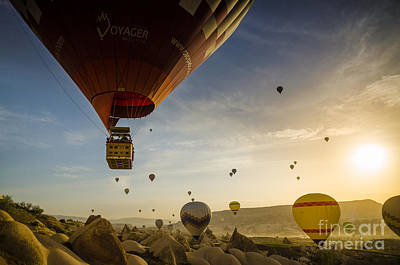 Flying With The Fairies - Cappadocia Turkey Art Print by OUAP Photography