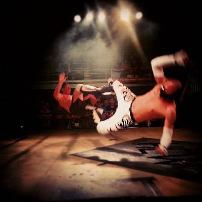 Wrestling Photograph - #flyingman, #wrestling, #hcw by Kallos Bea
