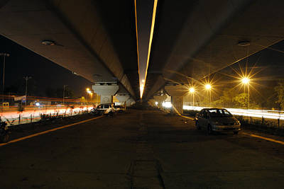 Photograph - Flyover And A Car by Sumit Mehndiratta