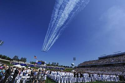 Navy Jets Photograph - Flyover For Naval Academy Graduates by Mountain Dreams