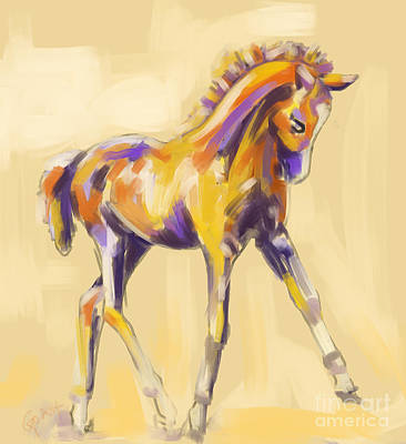 Painting - Foal Colour And Grace by Go Van Kampen