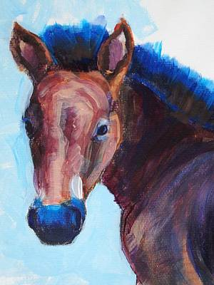 Painting - Foal Head by Mike Jory