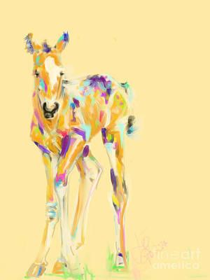 Foal Painting - Foal Jip by Go Van Kampen