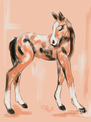 Painting - Foal Peach by Go Van Kampen