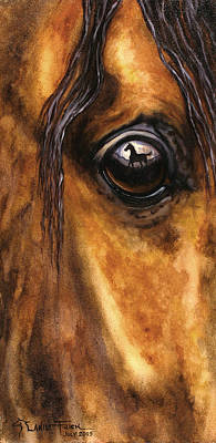 Wall Art - Painting - Foal Reflection by Lanie Frick