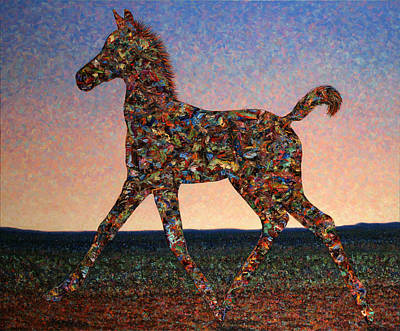 Foal Spirit Art Print by James W Johnson