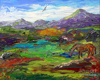 Surreal Painting - Foal Strolling In A Field by Arthur Robins