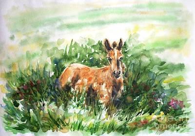 Painting - Foal by Zaira Dzhaubaeva