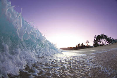 Seascape. Wave Photograph - Foam Wall by Sean Davey