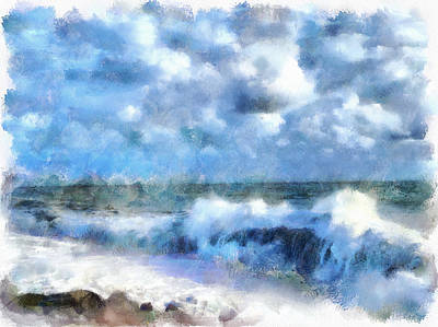 Foam Waves At Sea Art Print by Yury Malkov