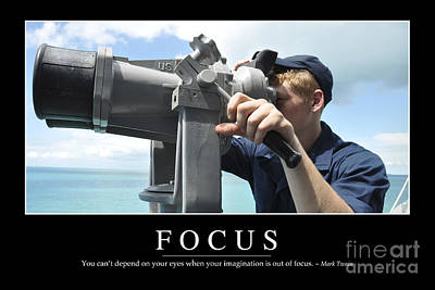 Photograph - Focus Inspirational Quote by Stocktrek Images