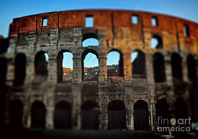Photograph - Focus On The Colosseum  by Karen Lewis