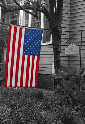 Photograph - Focus On The Flag by Suzanne Gaff