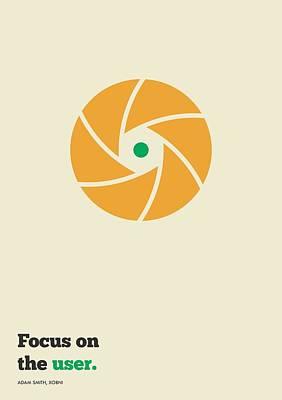 Focus On  The User Typography Art Poster Art Print