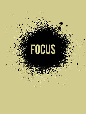 Cool Digital Art - Focus Poster Grey by Naxart Studio