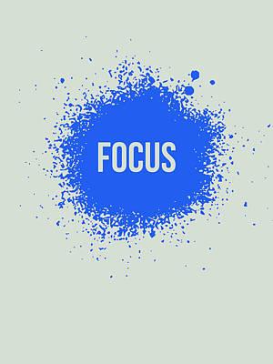 Focus Splatter Poster 1 Art Print