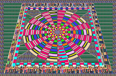 Focus Target Yoga Mat Chakra Meditation Round Circles Roulette Game Casino Flying Carpet Energy Mand Art Print