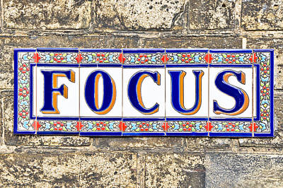 Focus Art Print by Tom Gowanlock