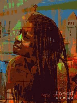 Faniart Africa America Mixed Media - Focusing by Fania Simon