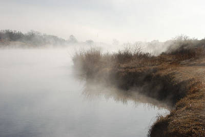 Photograph - Fog Along The Pecos River by Dakota Light Photography By Dakota