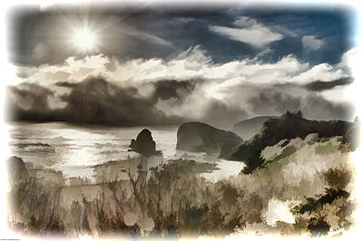 Photograph - Fog And Sun Digital Painting by Mick Anderson
